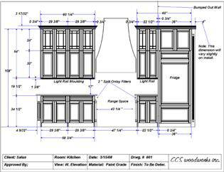 Click Here for an Example of the Line Drawings CCS Woodworks Clients Receive
